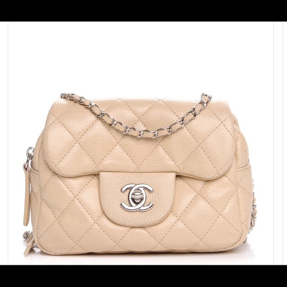 1701a4522267 CHANEL Handbags - CHANEL Caviar Quilted Mini Flap Beige Clair.